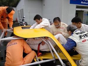 写真2:リムーバブルシートで救出